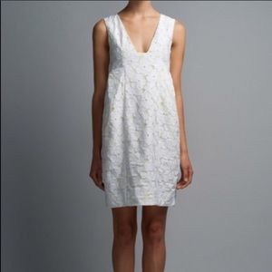 DVF Clydeena Lace Dress - size 4 - white and neon